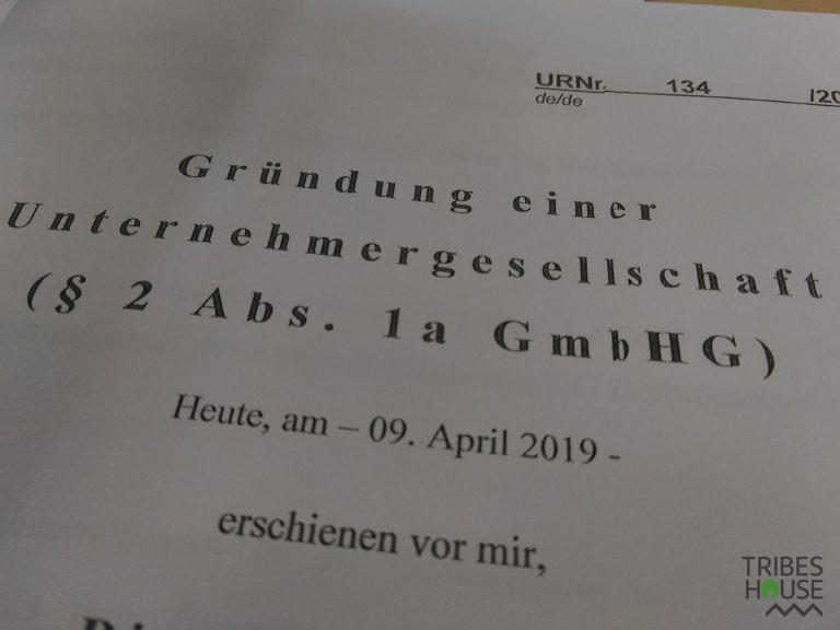 Gründung einer Unernehmenrgesellschaft ( § 2 Abs. 1a GmbHG )